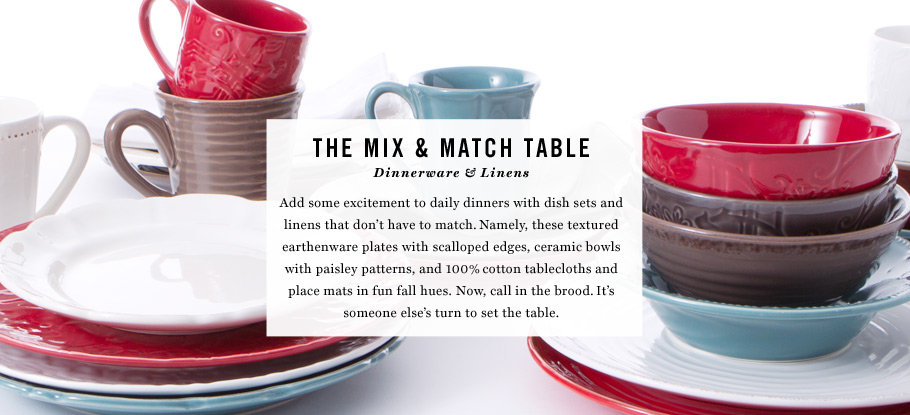 The Mix & Match Table: Dinnerware & Linens