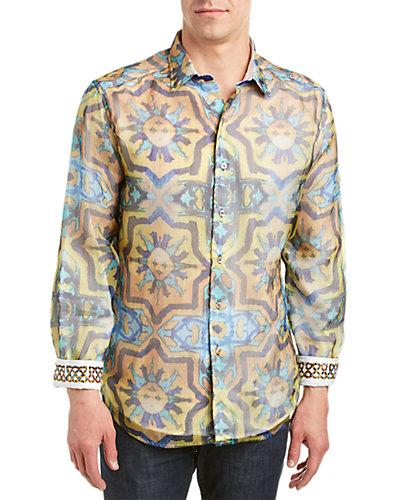 Robert Graham Race The Sun Classic Fit Silk Woven Shirt