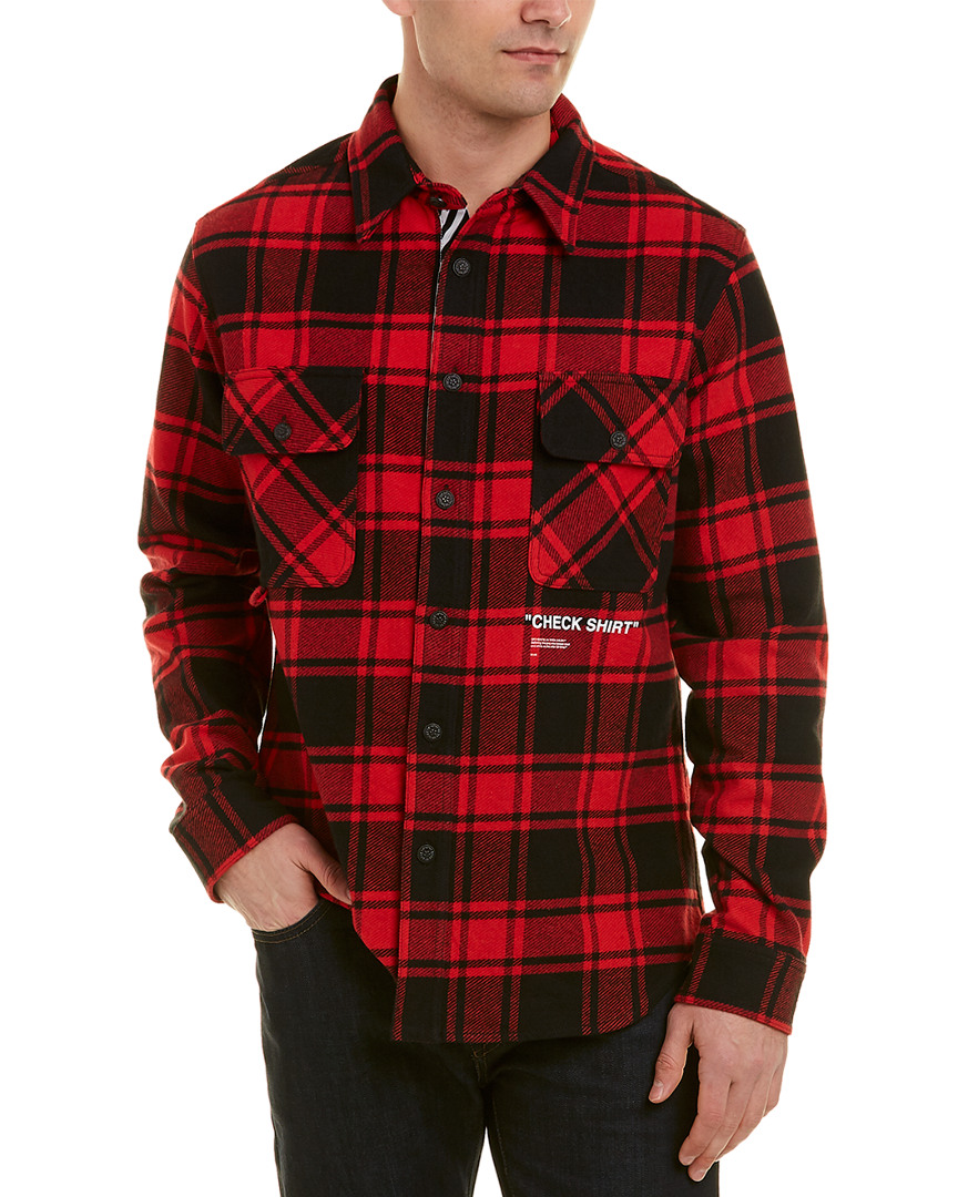 13cb303c4189 Off White Flannel Shirt