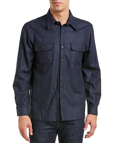 Forte Herringbone Wool & Yak-Blend Shirt Jacket