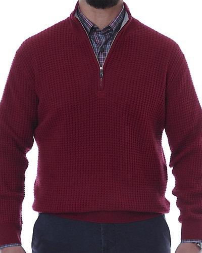 Robert Talbott South Beach Cashmere Waffle 1/4-Zip Sweater