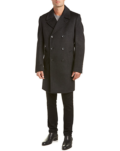 Vince Camuto Wool-Blend Double Breasted Peacoat