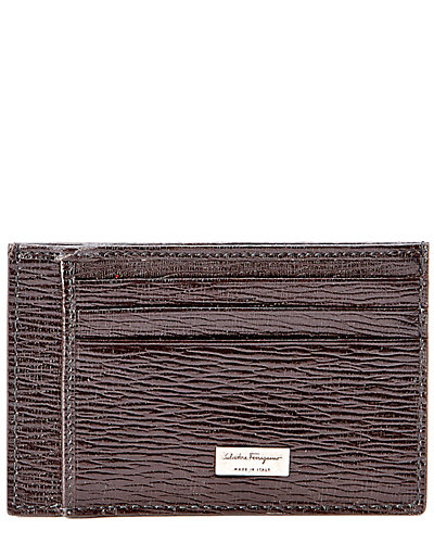 Salvatore Ferragamo Revival Two Sided Leather Card Case