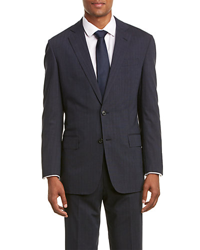 Brooks Brothers Regent Fit Wool-Blend Suit with Flat Front Pant