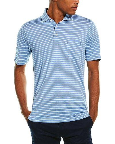 Rue La La — dunhill Striped Silk-Blend Polo Shirt