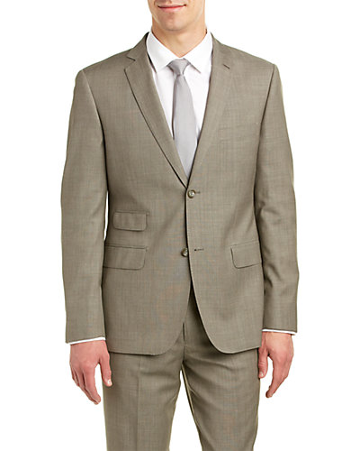 Zanetti Modern Fit Wool Suit with Flat Front Pant