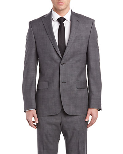 Ike Behar Suit with Flat Front Pant