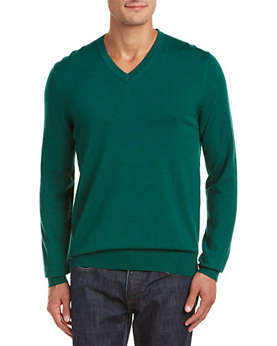 Belford Merino Wool V-Neck Sweater