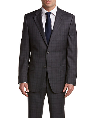 Ike Behar Umatilla Wool Suit with Flat Front Pant