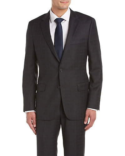 Hickey Freeman Milburn II Wool Suit with Flat Front Pant
