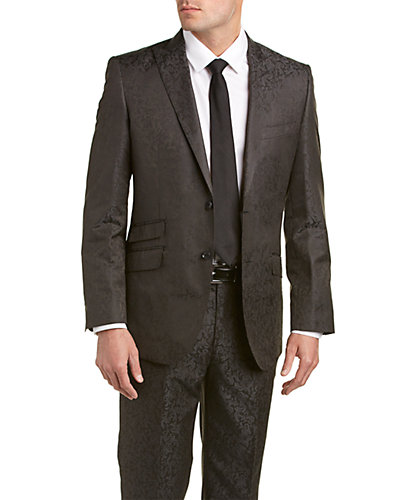 English Laundry Wool-Blend Suit with Flat Front Pant