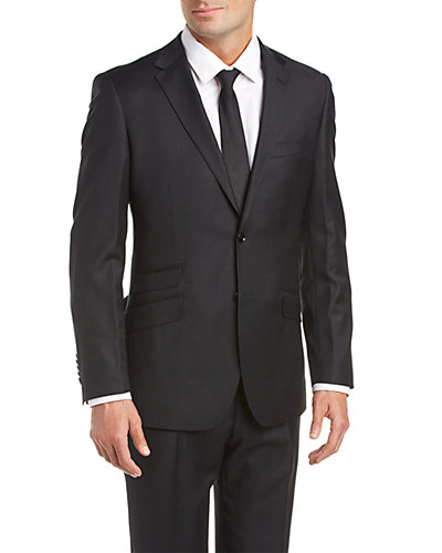 English Laundry Slim Fit Wool Suit with Flat Front Pant