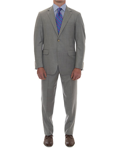 Robert Talbott 2 Button Notch Lapel Suit Flat Front Trouser