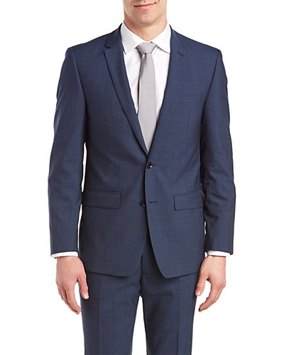 DKNY Slim Fit Suit with Flat Front Pant