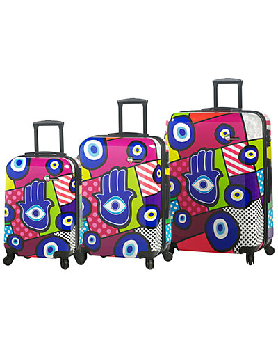 Mia Toro ITALY Hamsa Hardside 3pc Spinner Set