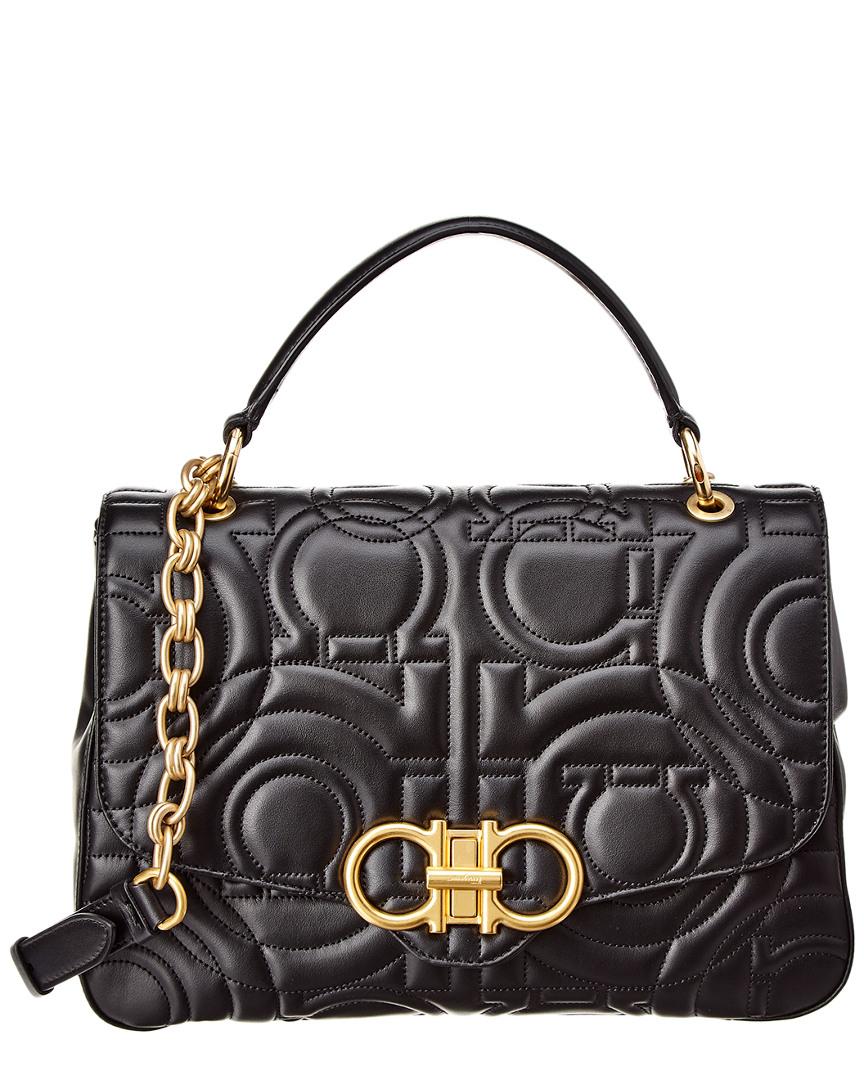 Salvatore Ferragamo Gancini Quilted Leather Top Handle Bag f5ef8e1014a97