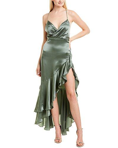 Rue La La — Fame and Partners Silk Maxi Dress