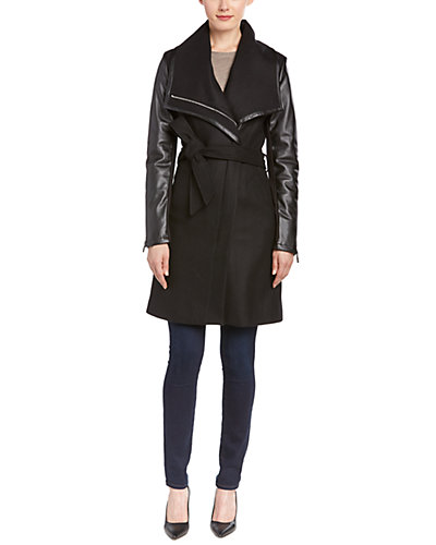 Dawn Levy 2 Winnie Wool-Blend Wrap Coat