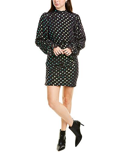 Rue La La — Saloni Rina Silk-Blend Mini Dress