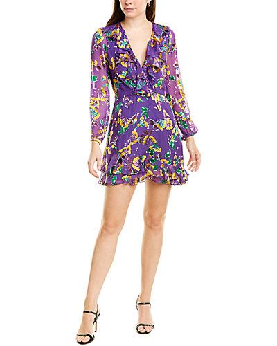 Rue La La — Saloni Jodie Silk-Blend Mini Dress