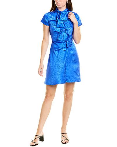 Rue La La — Saloni Kelly Silk Mini Dress