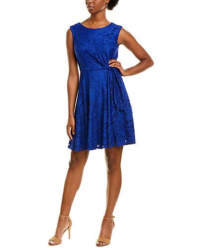 Rue La La — Tahari ASL Lace A-Line Dress