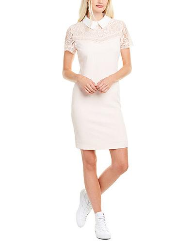 Rue La La — KARL LAGERFELD Lace Yoke Sheath Dress