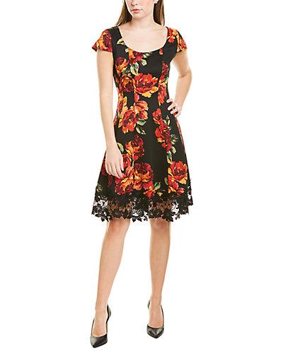 Rue La La — Donna Ricco Lace Hem Mini Dress