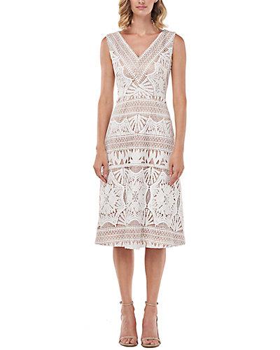 Rue La La — Kay Unger Priscilla Chemical Lace Midi Dress