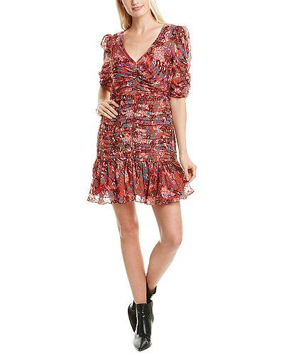 Rue La La — Tanya Taylor Pansy Silk-Blend Mini Dress