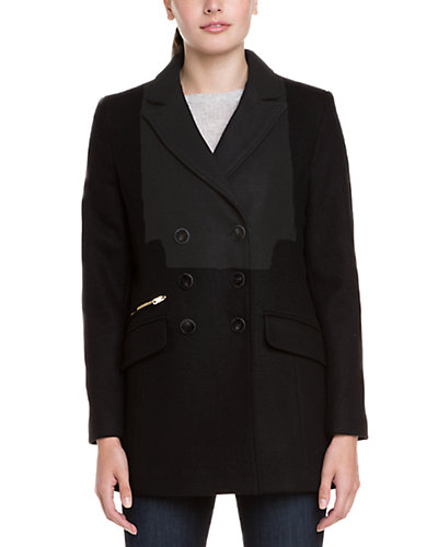 Cole Haan Signature Wool Double Breasted Coat