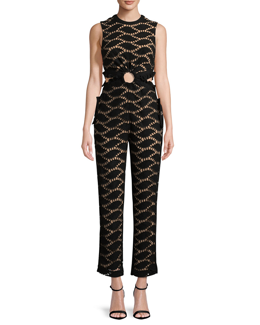 CUTWORK CREWNECK JUMPSUIT