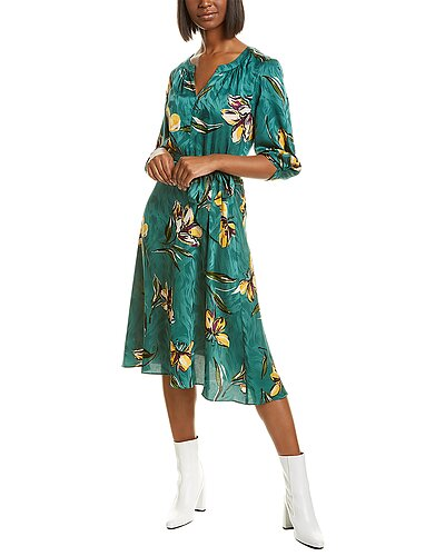 Rue La La — Donna Morgan Belted Midi Dress