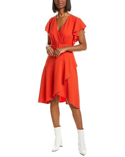 Rue La La — Donna Morgan Asymmetrical Midi Dress