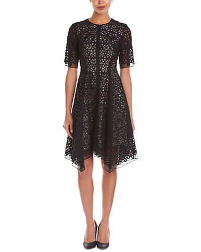 Lela Rose Silk-Lined A-Line Dress