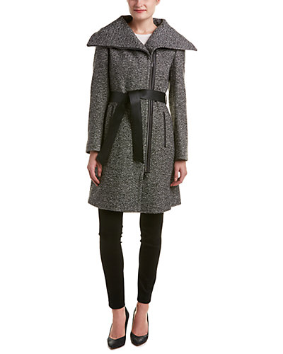 Cinzia Rocca Icons Wool-Blend Wrap Coat