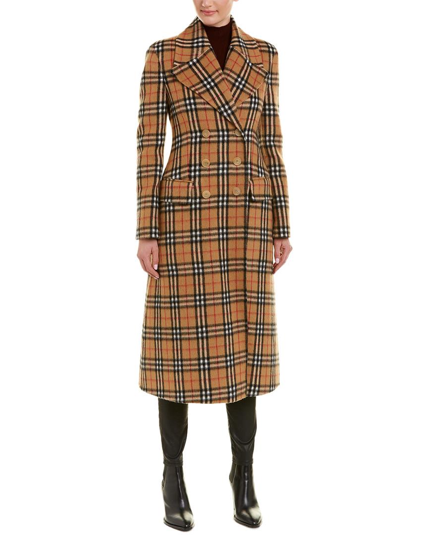 1d53c9d279d4 Burberry Vintage Check Alpaca   Wool-Blend Tailord Coat