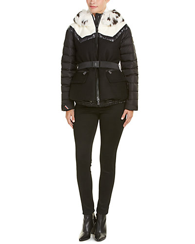 Moncler Grenoble Wool-Blend Down Jacket