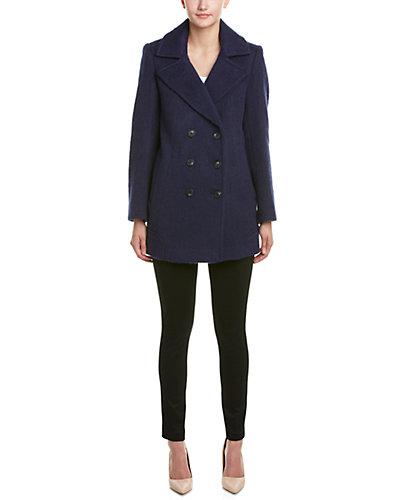 Marc New York Effie Brushed Wool-Blend Coat