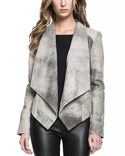 LaMarque Levina Leather Draped Jacket
