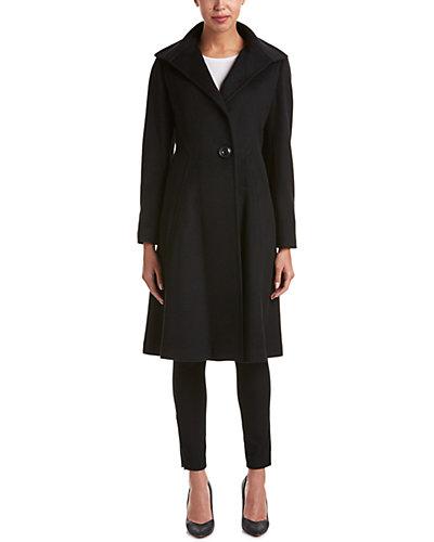 Vera Wang Wool-Blend Coat