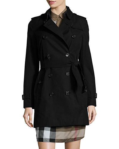 Burberry Kensington Mid Length Heritage Trench Coat by Burberry