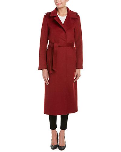 Soia & Kyo Rebecca Belted Wool-Blend Coat