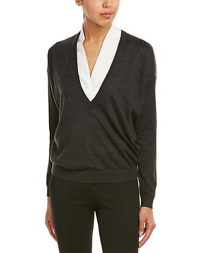 Brunello Cucinelli V-Neck Lightweight Cashmere & Silk-Blend Sweater