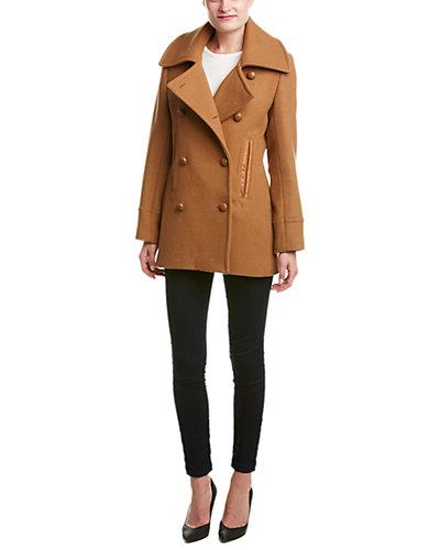 Pendleton Cascade Leather-Trim Wool-Blend Jacket