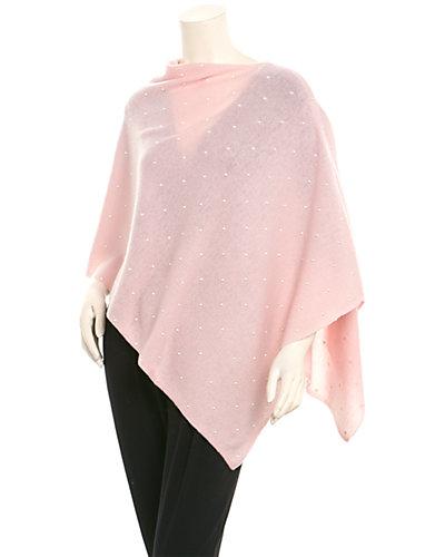 InCashmere Women's Pink Cashmere Poncho