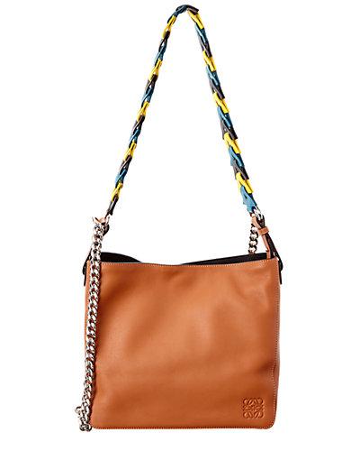 Loewe V Leather Bucket Bag