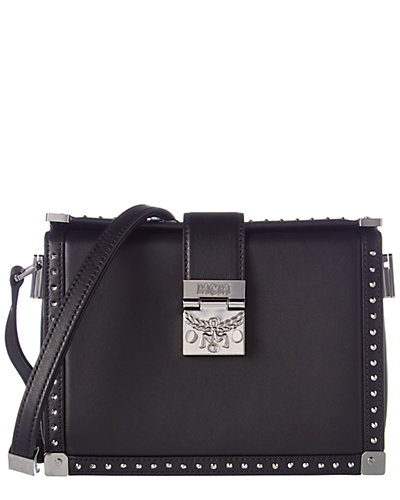 MCM Mitte Small Studded Leather Crossbody