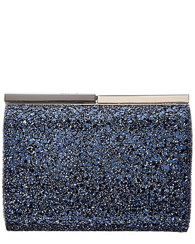 Jimmy Choo Cate Crackly Glitter Fabric Clutch