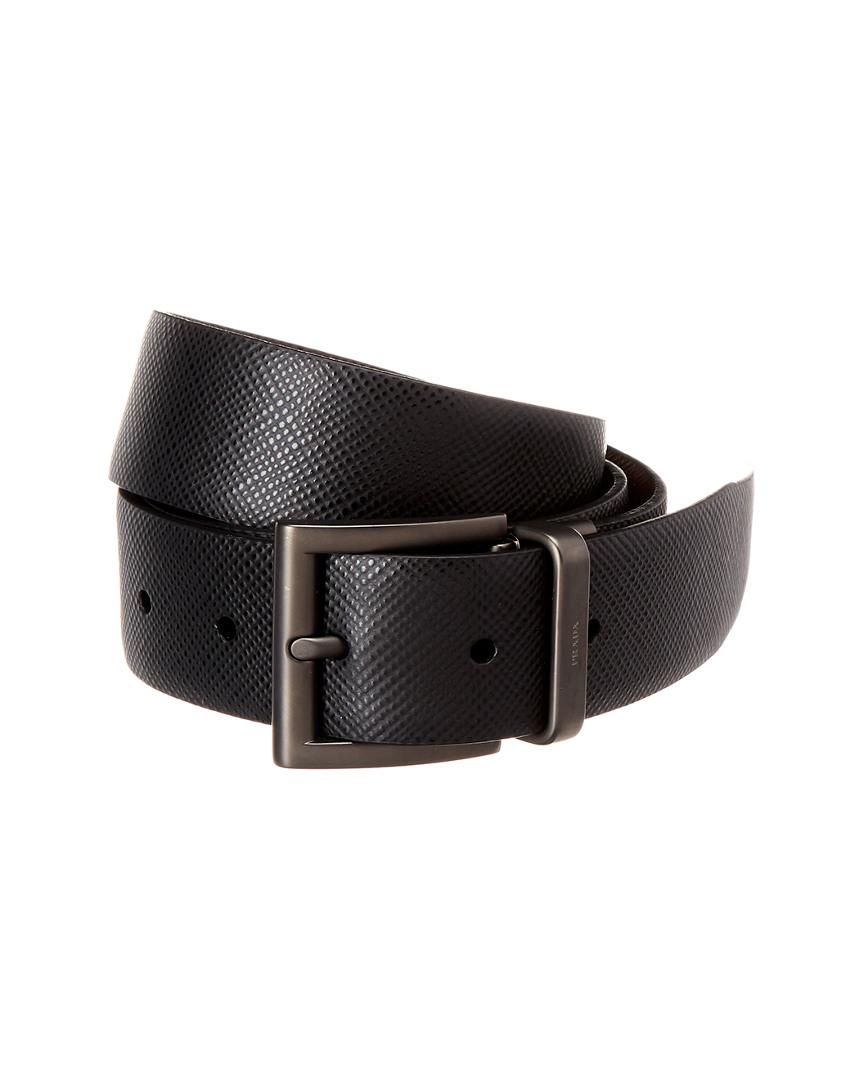 100182f64f Details about Prada Reversible & Adjustable Saffiano Leather Belt Men's